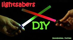 how to make a lightsaber diy - YouTube