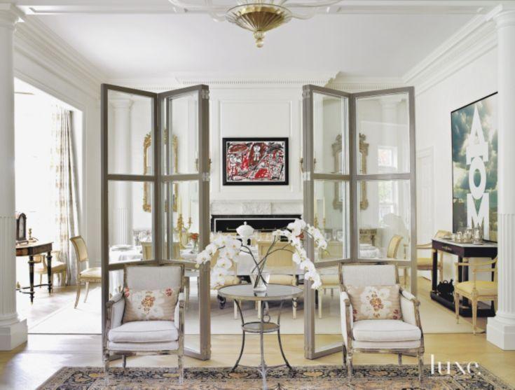 White Living Room Divider Screens
