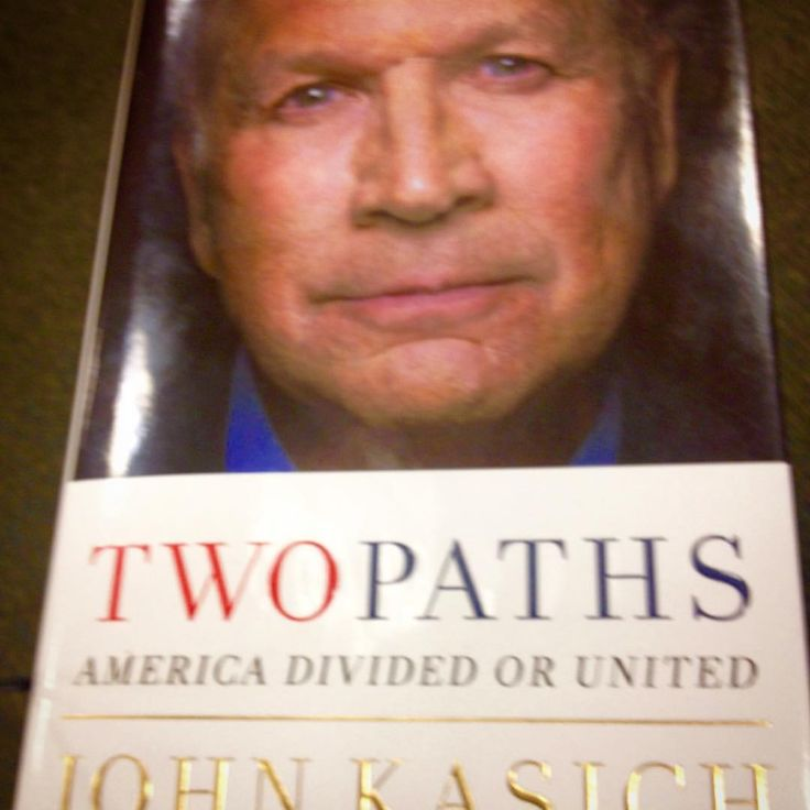Just finished one of the most inspiring books I've read from a Politician (wait ..... He told THEN Republican Nominee Donald Trump that he's not a Politician....Maybe that's why he's so successful). If the ELITE and the PTB allow this man to be President he will be a great one. No matter your Party Affiliation you should READ THIS BOOK!! #TwoPaths @JohnKasich #Kasich #Ohio #Governor #JohnKasich #FortySixthPresident