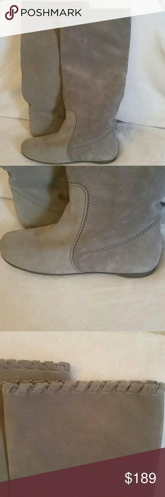Pedro garcia taupe/ gray boots suede Pedro garc?a suede pull on boots bought in Miami fountainbleau Ida and Harry Boutique Pedro garc?a Shoes Over the Knee Boots