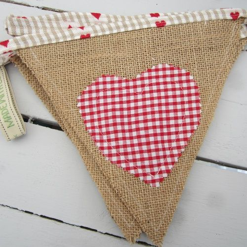 Product | Country Heart Bunting | Henry, Oscar and Me