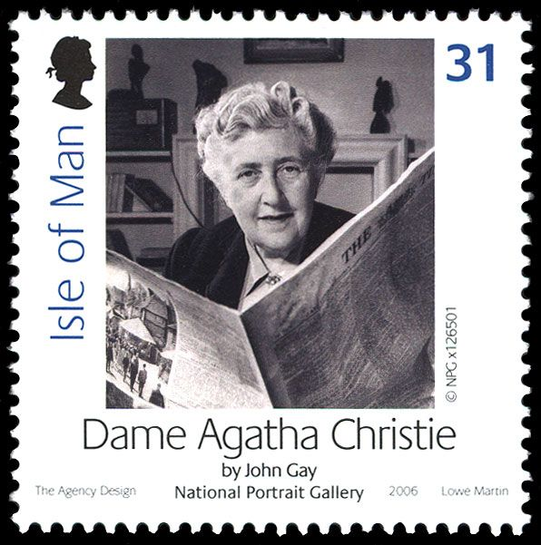 Detective Fiction on Stamps: Isle of Man: Agatha Christie (Hercule Poirot, Miss Jane Marple)