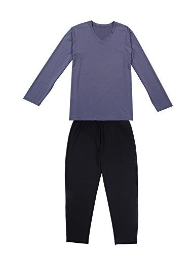David Archy Men's Manner Modal Cotton Sleep Set  This set is soft and comfortable enough to both wear around the house and to sleep in. Cotton-rich blend ensures maximum comfort and durability. Super soft super comfortable, stylish pajama lounge set. Superior fit and feel without being bulky, relax without tightness! They are suitable for any people. I believe you will love the soft fabric and clean sharp lines of this set. DAVID ARCHY Manner Series, you will feel uninhibited.    Sma..