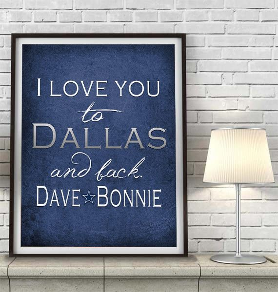 Man Cave Gifts Ireland : Dallas cowboys inspired personalized quot i love you to