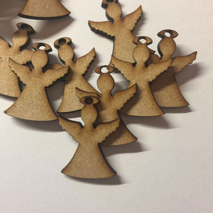 3,21+3,44 10x Wooden Angels 30 Mm(3cm)Craft Shape Mdf Christmas Tree Decoration Blank