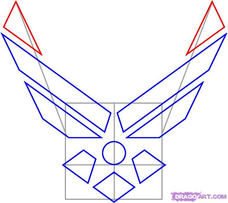 How to Draw the Air Force Symbol, Step by Step, Symbols, Pop ... @Megan Fischer