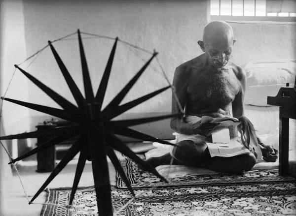 Gandhi at the Spinning Wheel - Margaret Bourke-White