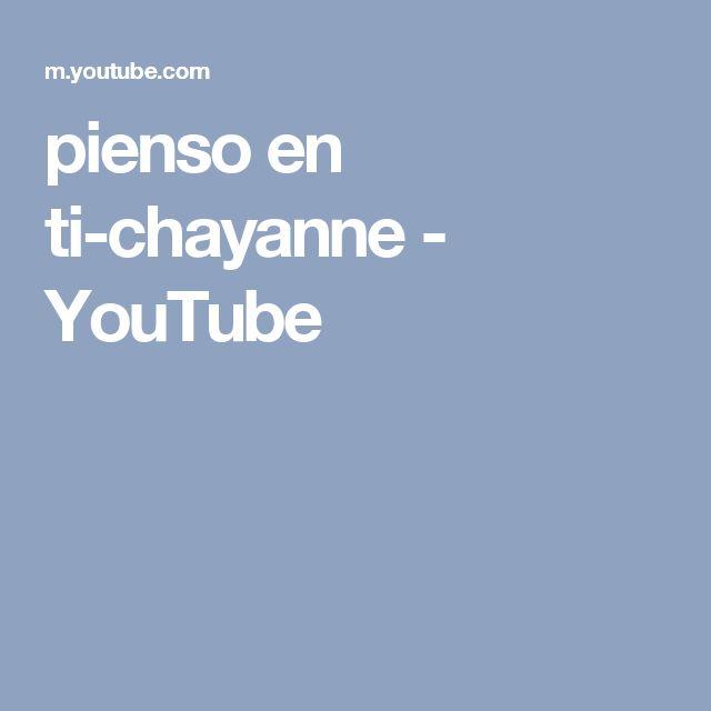 pienso en ti-chayanne - YouTube
