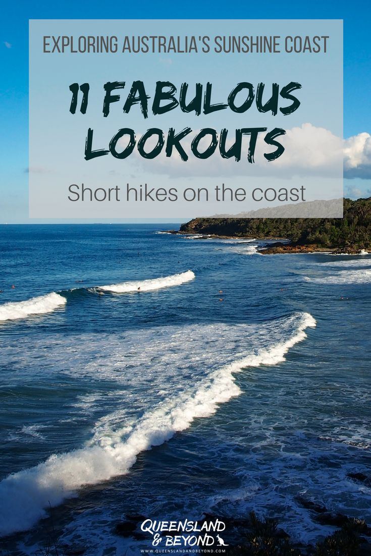 One of the best things on Queensland's Sunshine Coast are the scenic views: Of the sprawling coast, undulating valleys and hills, or the Glass House Mountains. Here are 11 ideas for Sunshine Coast Lookouts dotted along the coastline that you can easily hike to or for enjoying a picnic! 🌐 Queensland & Beyond #australia #queensland #sunshinecoast #thingstodo #lookout