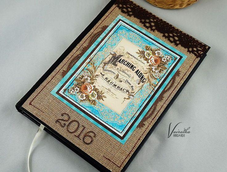 Kalendarz na 2016 r. – Kalendarze - ostatnia sztuka - kolor: kawowy, brązowy, lazurowy, wymiary: 15*21cm – Artillo