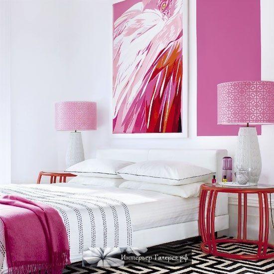 Розовый в интерьере, Сочетание розового цвета в дизайне интерьера, Красивые интерьеры в розовых тонах фото, Красивые и стильные интерьеры с оттенками розового сиреневого, Советы дизайнера по сочетанию цветов - розовый фуксия лаванда в интерьере