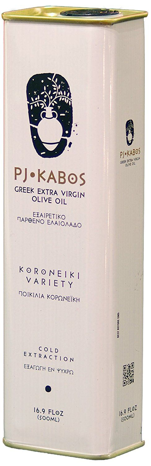 2016 GOLD Medal Winner PJ KABOS 16.9Floz Greek Extra Virgin Olive Oil, 100% FRESH olive oil born in Ancient Olympia vicinity, KORONEIKI Variety (16.9Fl Oz Tin, Extra Virgin Olive Oil from Greece) => Startling review available here at : Fresh Groceries