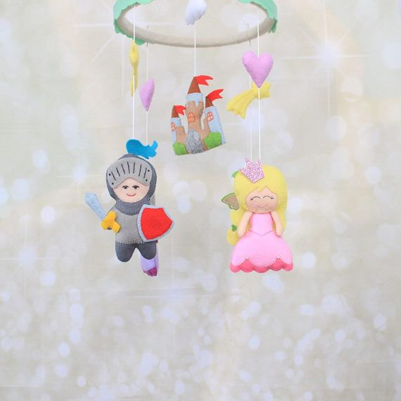 Baby mobile Sleeping beauty Nursery mobile by MiracleInspiration
