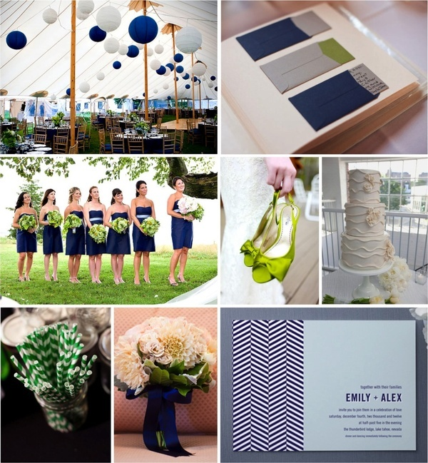 blue  white lanterns, a white tent! and chevron?! be still my heart    Oh Lovely Day: Guest Post Navy + Kelly Green Summer Wedding Inspiration from Landlocked Bride