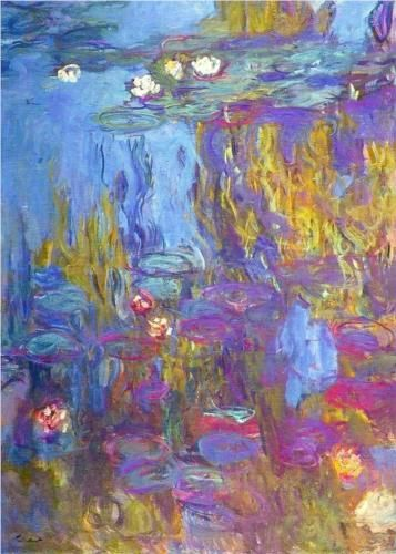 Claude Monet did a lot of layering with his paint which makes it look so real!