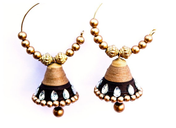 Brown Ring Hook Earrings by AtheenaDecors on Etsy, $11.99 Quilled Jewelry.