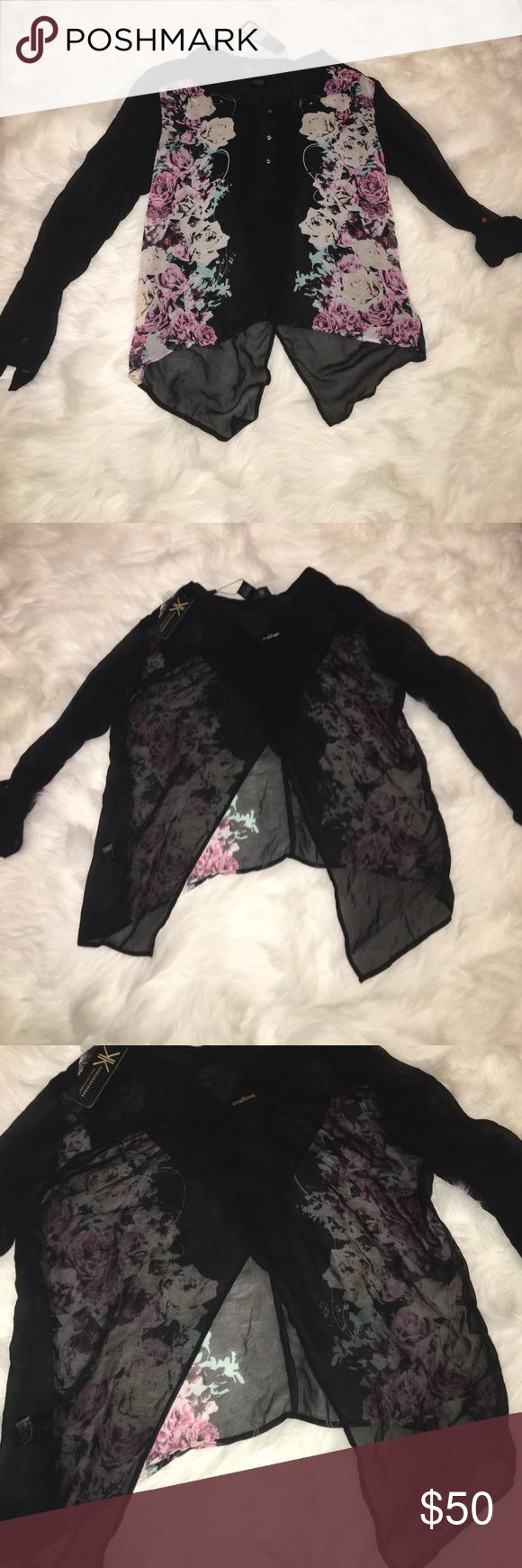 Printen Enveloe Blouse Kardashian kollection Kardashian kollection Kardashian Kollection Tops Blouses