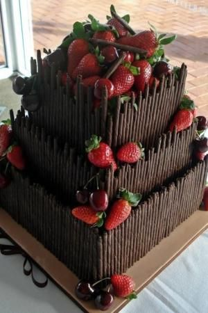 Chocolate Wedding Cake by sharlene