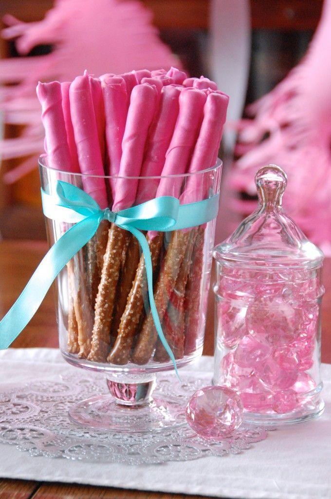 Pink Princess Party Pretzel Magic Wand Treats