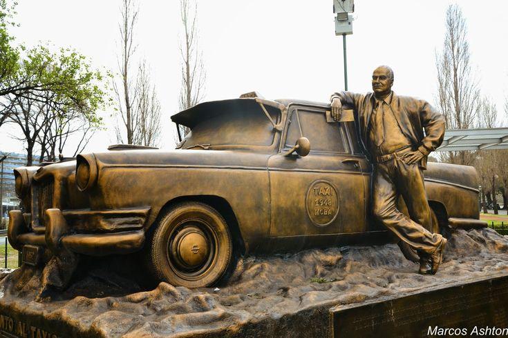 MisteriosaBsAs: Monumento al Taxista . Avenida de los Italianos y Machaca Güemes, Puerto Madero, CABA.