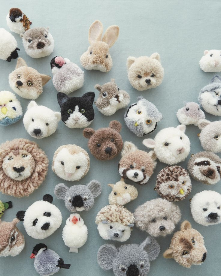 These Pom-Pom Animals Are Our New Craft Obsession for Fall | Bundled in a basket…