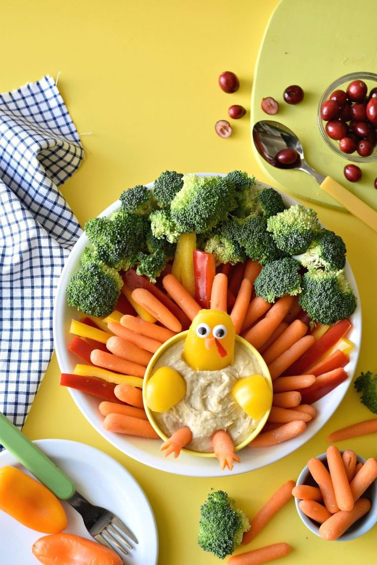 The Ultimate Turkey Veggie Platter