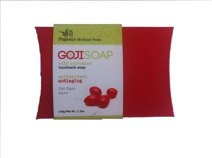 Facial Natural Handmade Anti Aging Anti Wrinkle Goji and Cucuber Soap Pegasus