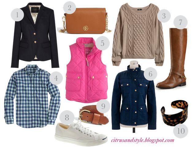 Fall fashion staples // via citrus & style.
