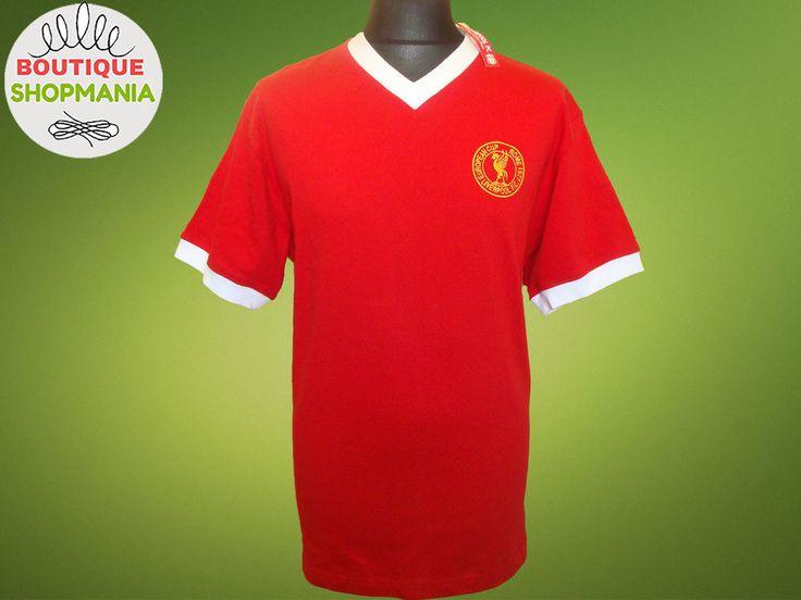 LIVERPOOL HOME 1977 Rome European Cup Commemorative Retro Replica Football Shirt #Liverpool #LIVERPOOL