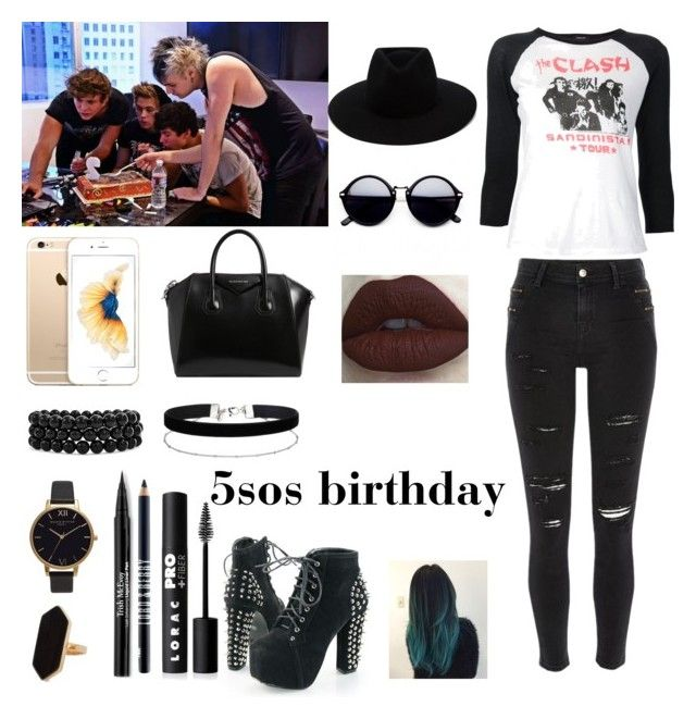 5sos birthday by sabrina-carreiro on Polyvore featuring polyvore, fashion, style, R13, River Island, Givenchy, Olivia Burton, Bling Jewelry, Miss Selfridge, Jaeger, rag & bone, LORAC, Trish McEvoy, Lord & Berry and clothing