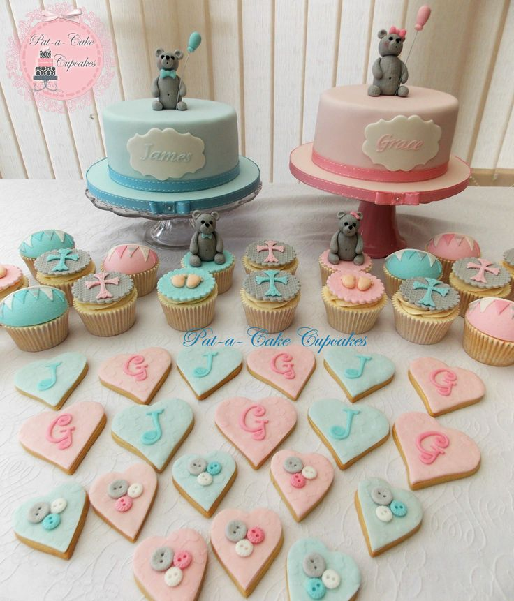 Joint Sibling Christening https://www.facebook.com/PataCakeCupcakes.Preston