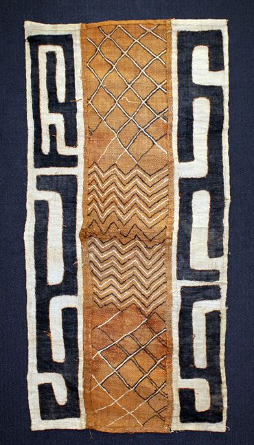Kuba Cloth. Using the leaf of the raffia tree, the Kuba people of the Congo first hand cut, and then weave the strips of leaf to make pieces of fabric, often called raffia cloth.