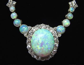 late 1800's opal and diamonds