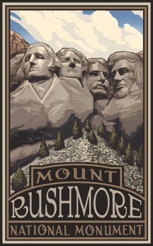 """Northwest Art Mall 11"""" x 17"""" Poster Mount Rushmore National Monument by Paul A. Lanquist by Northwest Art Mall, http://www.amazon.com/dp/B001ANF80I/ref=cm_sw_r_pi_dp_JFiaqb0Y6YWKS"""