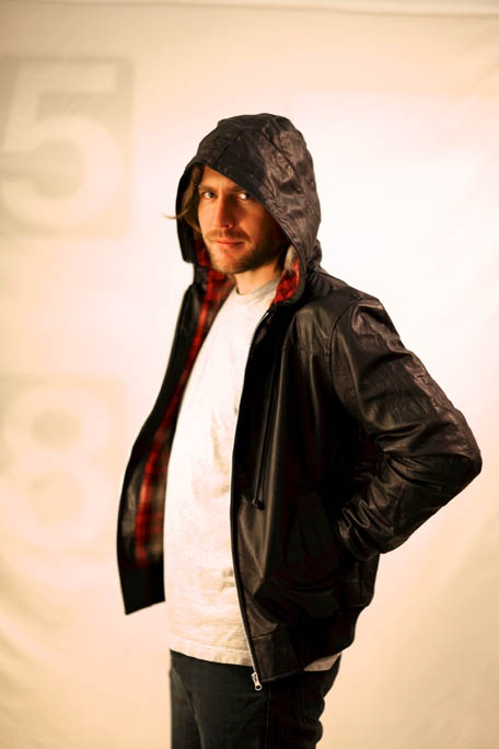 Black hooded jacket with flannel linning made from recycled leather. Available at different sizes for $180.00. To view more go to http://www.shappere.com.au/men/vintage-jacket