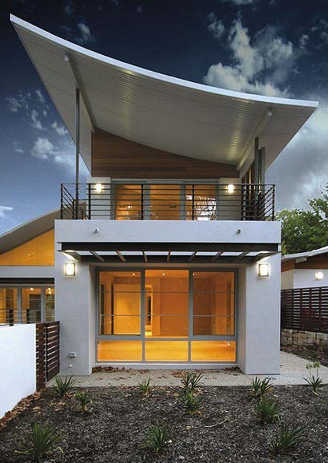 21 Stunning Modern Exterior Design Ideas: Modern Roof Design, Shed Roof Design, Roof Styles