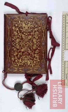 16th century Italian bookbinding  Grant of the degree of Doctor.. in the Univerisy of Padua to Sanctiflorus Mundella of Brescia by Nicolaus Galerius Place of Publication 	Padua Date of Publication 	1576 Has the seal of Ludovicus Manin, Doge of Venice.