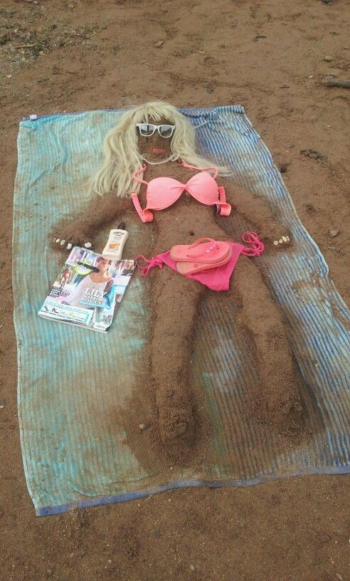 Amusing sand castle competition entry at #hopecoveweekend #southhams #devon