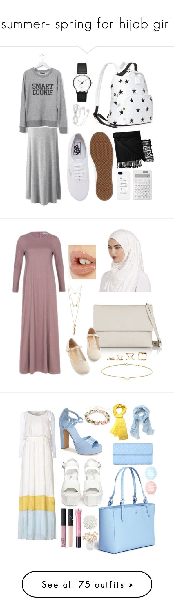 """summer- spring for hijab girl"" by rasheel ❤ liked on Polyvore featuring girl, muslim, hijab, muslimah, hijabi, Banana Republic, New Directions, Tommy Hilfiger, Vans and Muji"