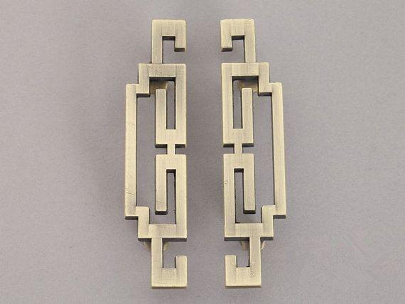 Pair of Vintage Style Handles Cabinet Door Handles Pulls Antique Bronze Dresser Pulls Drawer Pull Knobs Retro Furniture Handle Pull Hardware    The