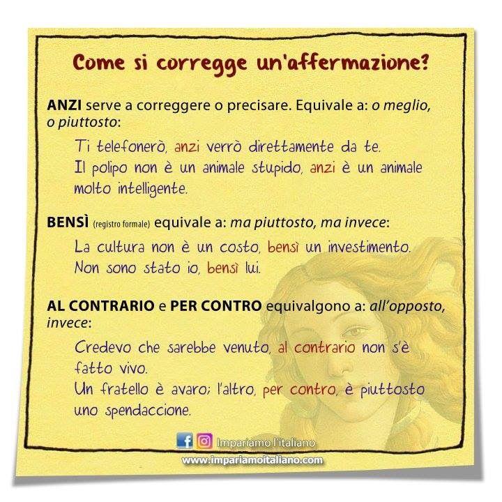 Pin Di Almudena Su Italienisch Lernen Imparare L Italiano Parole Grammatica