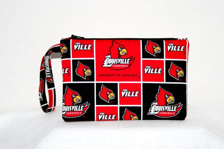 Louisville Cardinals Wristlet Cell Phone Bag Small Padded Tech Bag University of Louisville Bags, College Gifts, Louisville college bags by HandmadebyShelia on Etsy