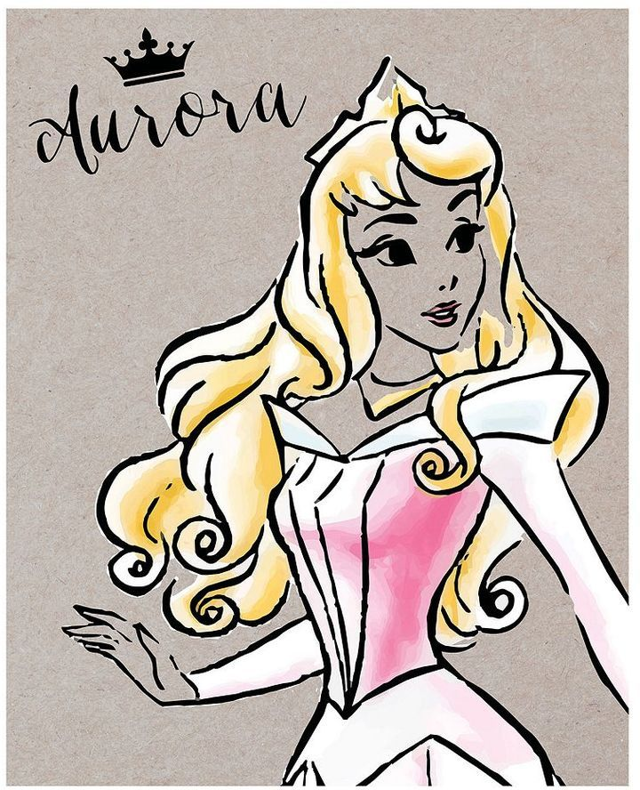 Disney princess aurora fashionista canvas wall art