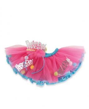 Юбка туту из фатина для девочки малиновая юбка пачка в комплекте с ободком. Фирма Mud Pie (США)