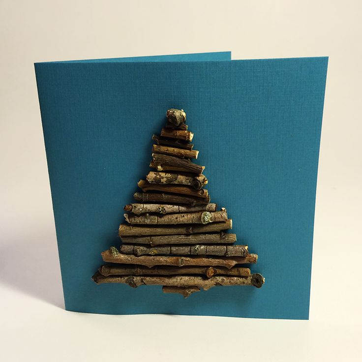 Joulukorttiin kuusi oksista. lasten | askartelu | joulu | joulukortit | luonnonmateriaalit | käsityöt | koti | DIY ideas | kid crafts | christmas | home | cards | natural materials | Pikku Kakkonen