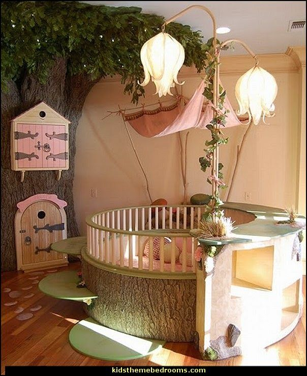 fairy nursery forest woodland themed bedroom ideas-fairy woodland theme nursery ideas