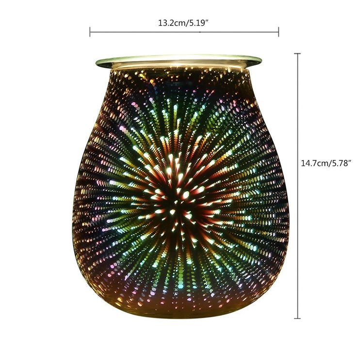 COOSA Electric Oil Warmer 3D Effect Starburst Fireworks Beautiful Glass Wax Tart Burner Night Light Aroma Decorative Lamp for Gifts Decor (Multicolor): Amazon.ca: Home & Kitchen