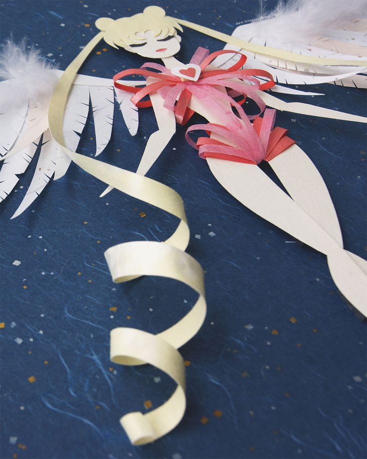 ♡littlepaperforest, Sailor Moon mid transformation! *v* Made entirely...