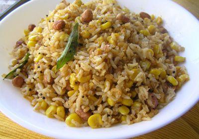 Corn masala rice