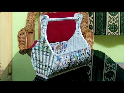 How to make a newspaper rack / holder - YouTube